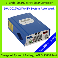CE RoHS 60A 48V PV Regulator 48V 60A SMART2 MPPT Solar Charge Controller With RS232 Lan