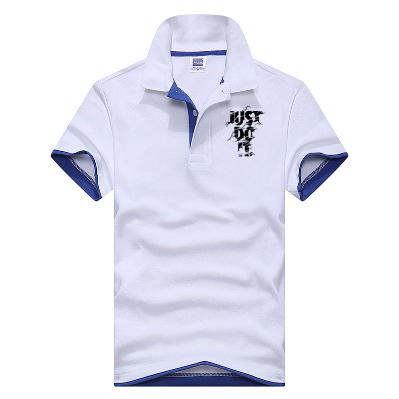 2018 New Fashion Camisetas Short Sleeve   Polo   Masculinas Turn Down Collar Summer Casual Men's JUST TO IT   Polo   Shirt