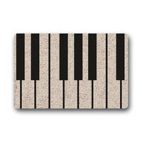 Decorative Piano Music Key Living Room Doormat Kitchen Carpet Floor Stairs Area Non Slip Front Porch