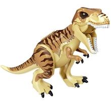 1PC Jurassic World 2 Fallen Kingdom Carnotaurus Indominus Tyrannosaurus Rex Dinosaur Dragon Building Blocks Children Toys цена в Москве и Питере