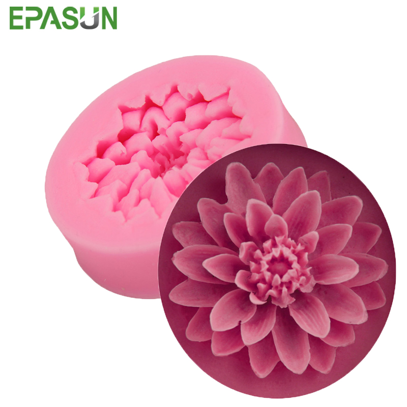 EPASUN Silicone Soap Mold Flower Form Fondant 3D Gumpaste Cake Chocolate Decorating Tool DIY For Making Mould Handmade