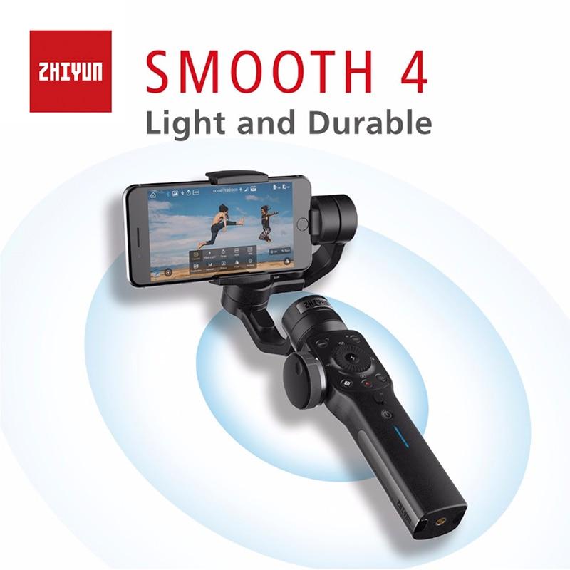 Zhiyun Lisse 4 3-Axes De Poche Cardan Portable Stabilisateur Mont Caméra pour Smartphone iPhone X & 8 et Huawei xiaomi & Gopro