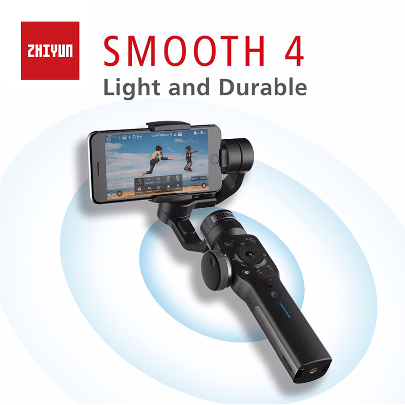 Zhiyun Smooth 4 3-Axis Handheld Gimbal Portable Stabilizer Camera Mount for Smartphone iPhone X&8 & Huawei Xiaomi & Gopro цена