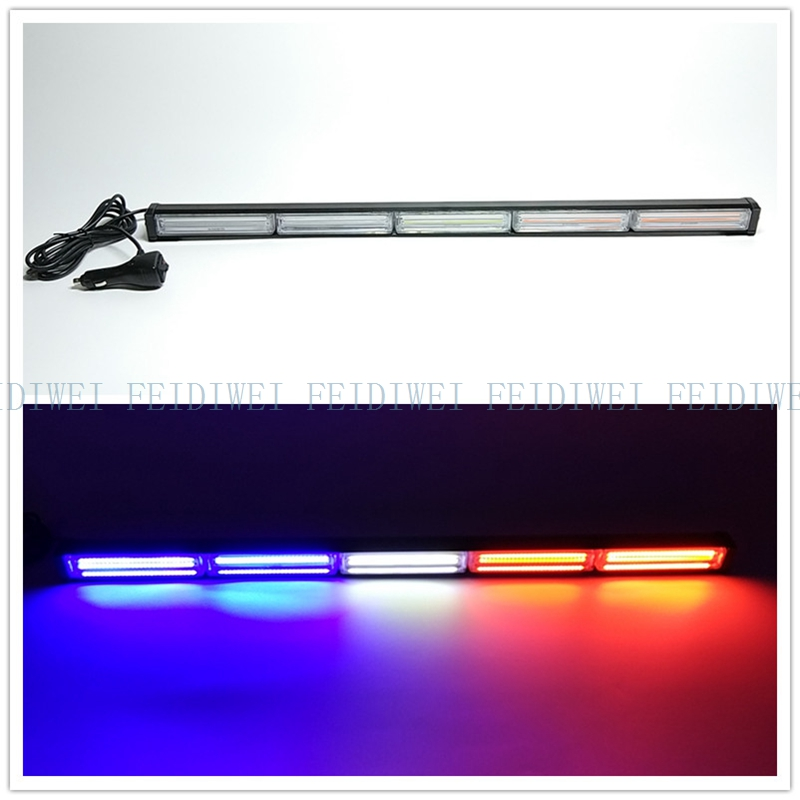 09095 COB LED 30 11Flashing Mode Emergency Warning Traffic Advisor Vehicle Strobe LED Light Bar-Amber for all 12V Vehicles COB