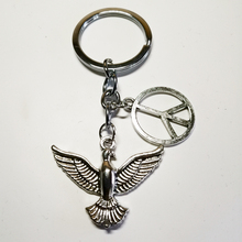 Fashion Keychain Peace Dove Pendant Key Ring DIY Mens Jewelry Car Gift Souvenir