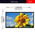 Excelvan Portátil e Desmontável 120 polegada 16:9 Tecido Branco Fosco Tela de Projeção tela de Projeção Para O Cinema Em 3D Escritório