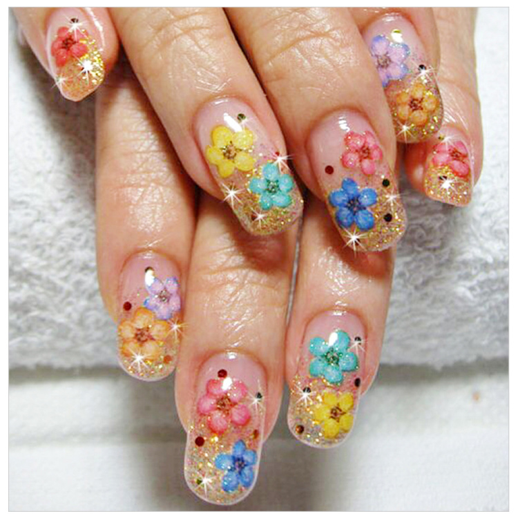 Dried Flowers Nail Art Decoration Natural Dry Floral Leaf DIY Sticker Beauty Jewelry Tips Colorful Nail Gel Ornaments 01 (6)
