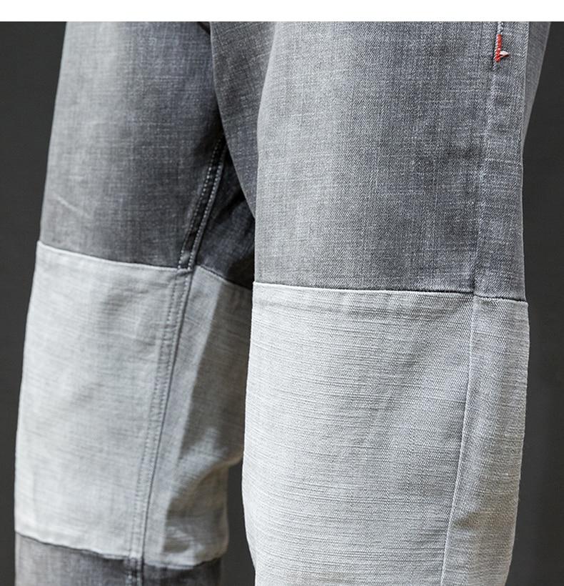 KSTUN Jeans Men Japanese Autumn and Winter Hip hop Harem Pants Grey Wide Leg High Quality Brand
