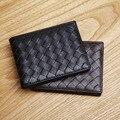 LAN  men's leather wallet fashion  licence wallet brand  hot sale woven wallet
