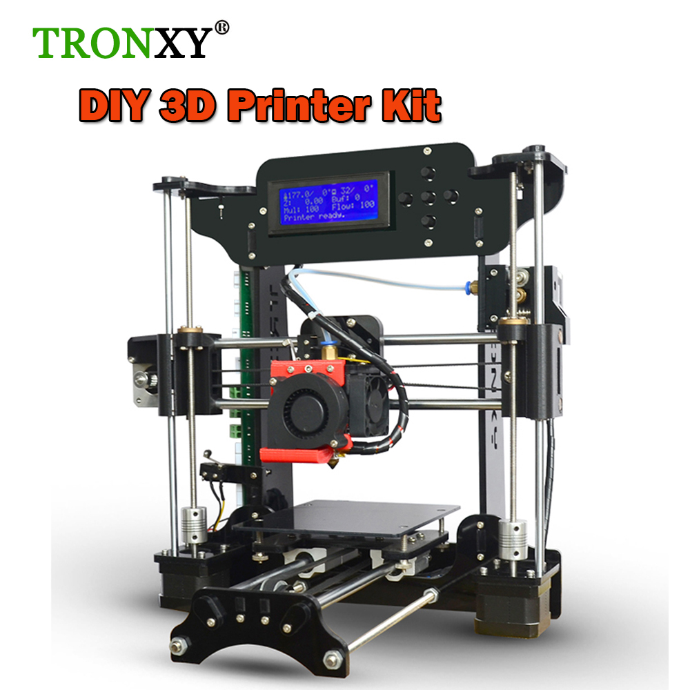 Tronxy 3d printer diy Large Size 120*140*130mm Precision Reprap Prusa i3 3D Printer Kit DIY With Filaments 8GB SD Card As Gift big size 220 220 240mm reprap prusa i3 3 d printer diy printer power supply by 110v 220v 1roll filaments 0 5kg and 16g sd card