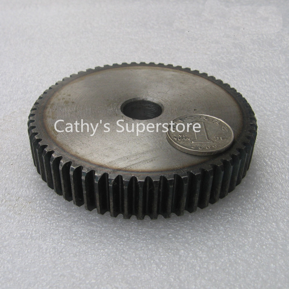 Spur Gear pinion 55T Mod 1.5 M=1.5 Width 18mm Bore 12mm Right Teeth 45# steel positive gear CNC gear rack transmission motor spur gear pinion 2m 15t 2 mod gear rack 15 teeth bore 12mm keyway 4mm 45 steel cnc rack and pinion