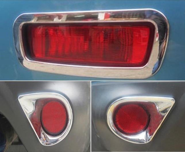 Otomobiller ve Motosikletler'ten Çatı Raflar ve Kutular'de Arka Sis aydınlatma koruması Trim 3 adet ABS Krom Mitsubishi ASX 2013 2014 2015 2016 title=
