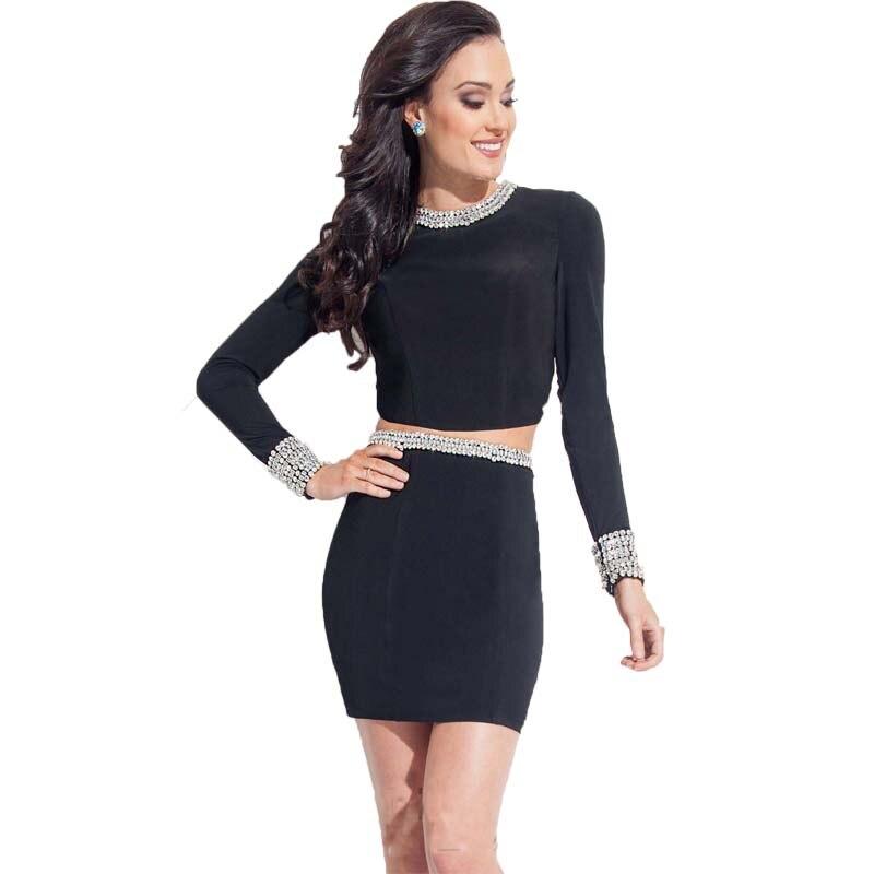 Vestido negro para fiesta de noche