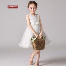 0aaa30b20e4da JaneyGao fleur fille robes pour la fête de mariage petite fille princesse  robe formelle 2019 nouveau blanc enfants anniversaire .