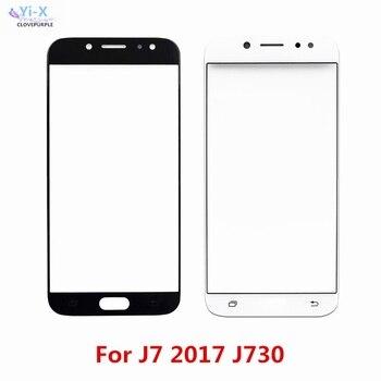 Перейти на Алиэкспресс и купить Сенсорный экран для Samsung Galaxy J7 2017 j730 передняя внешняя стеклянная верхняя линза сенсорная панель