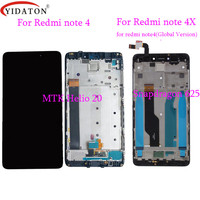 High Quality LCD Display Touch Screen Digitizer Assembly Frame For Xiaomi Redmi Note 4 MTK Helio