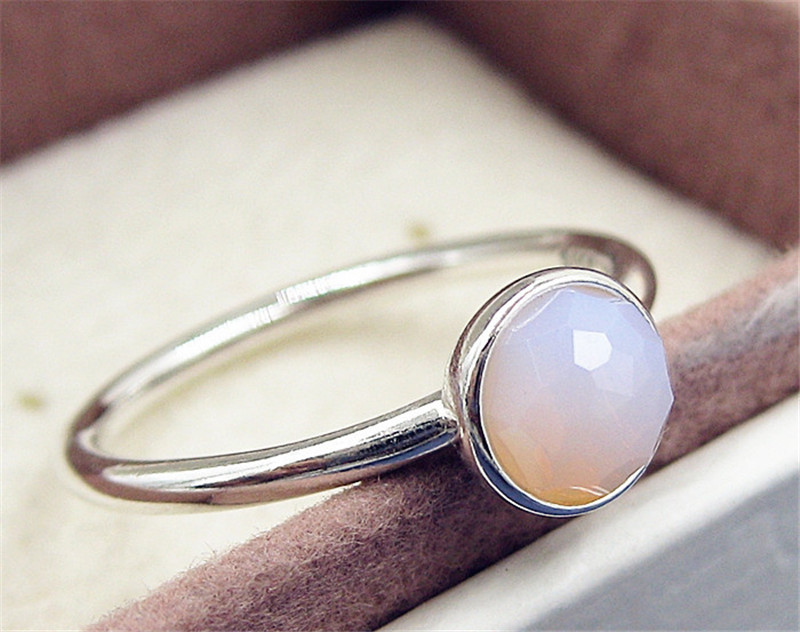 2017 new women ring 925 sterling silver october birthstone ring charm ring fashion jewelry ring - Birthstone Wedding Rings