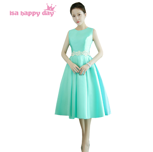 short elegant robe de princesse light green teenager ball gown ...