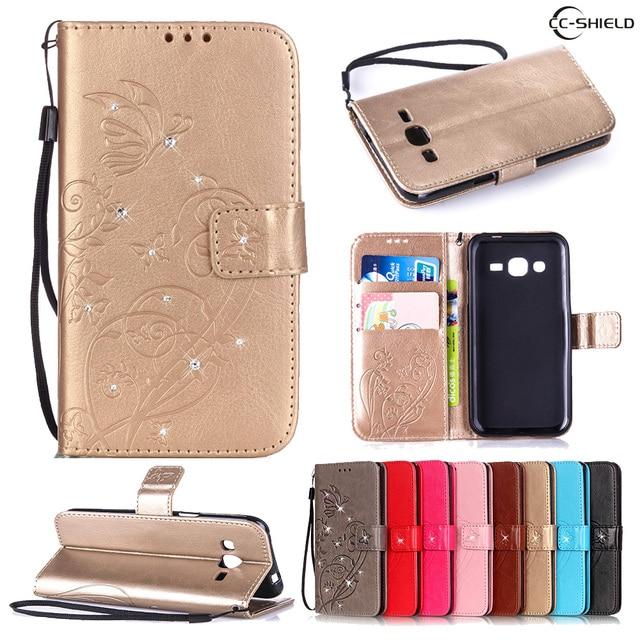 Flip Case for Samsung Galaxy J2 J 2 2015 J200 J200H J200M J200Y SM-J200H SM-J200M SM-J200Y SM-J200G Leather Diamond Phone Case