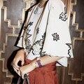 Za 2016 Blusas Женская Мода O Шея Половина Рукавом Блузка Случайные Дамы Цветочный Принт Кимоно Топы Ropa Mujer