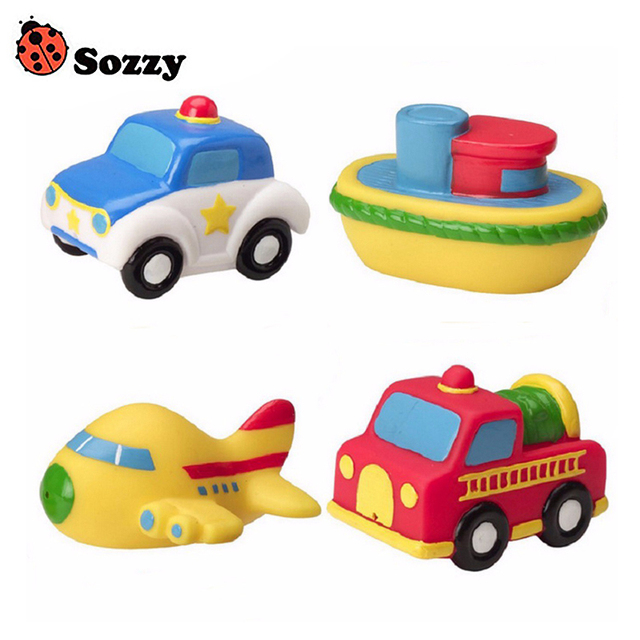 Sozzy 4pcs Baby Bath Squirters for the Tub Toy Classic Vehicles ...