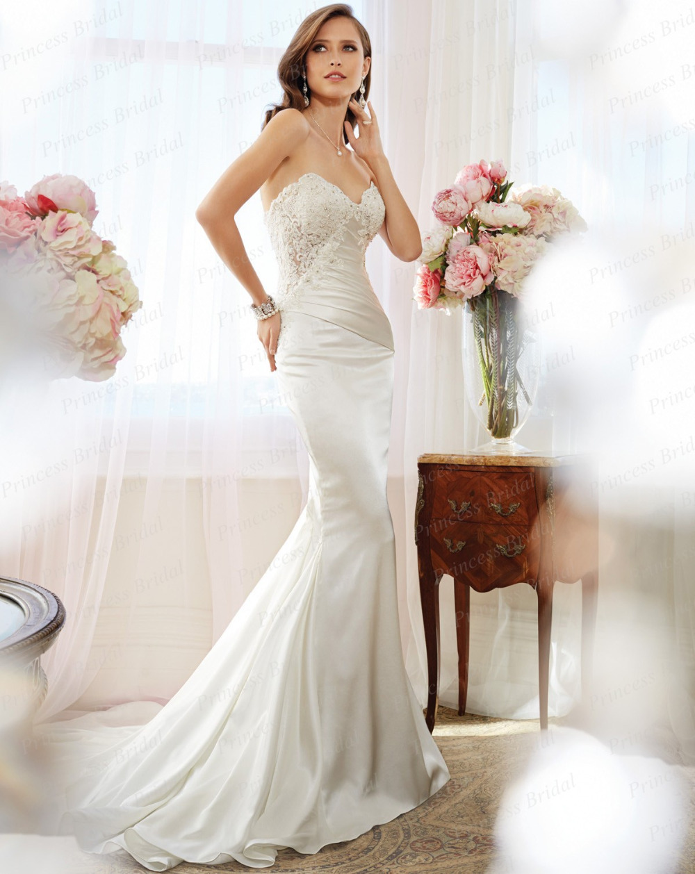 Dress up meaning - Free Shipping 2015 New Images Fishtail Sweetheart Lace Up Back Sweep Train Italian Style Wedding Gown