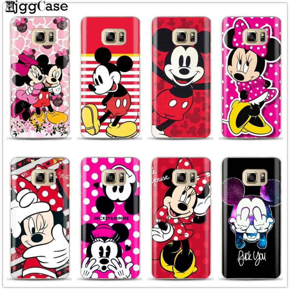 Mickey Minnie Silicone Case For Coque Samsung Galaxy S6 S7 Edge S8 S9 Plus J3 J5 J7 A5 A7 2016 2017 Note 8 A6 A8 Plus 2018 Cover