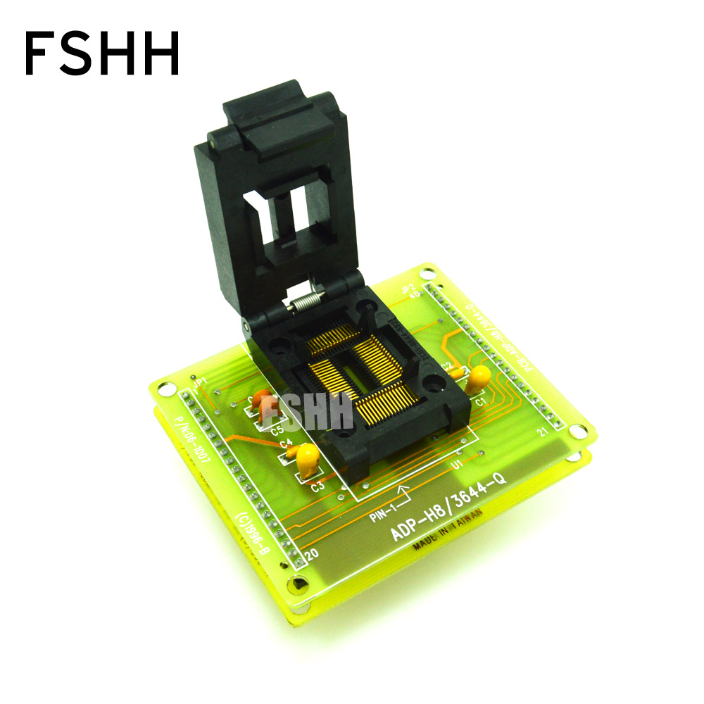 ADP H8/3644 Q Programmer Adapter for HI LO ALL 11 Programmer Adapter QFP64 to DIP40 IC SOCKET