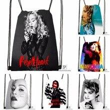 Custom Madonna Drawstring Backpack Bag Cute Daypack Kids Satchel Black Back 31x40cm 180531 03 49