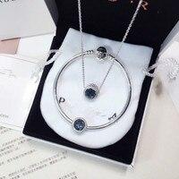 Fits Jewelry Charm DIY Women's Jewelry Gift Sterling Silver 925 Beads Ocean Heart Opal Bracelet