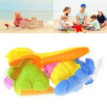 12Pcs Tiny Beach Sand Tools Toys Building Model Set For Kids Children Outdoor(China)