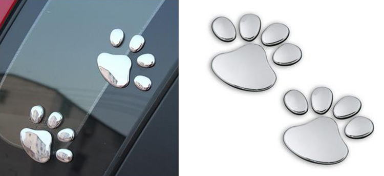 1 PCS New Cute Feet Car Sticker 3D Bear Paw Pet Animal Footprints Car Sticker Truck Decor Decal Accessories 3