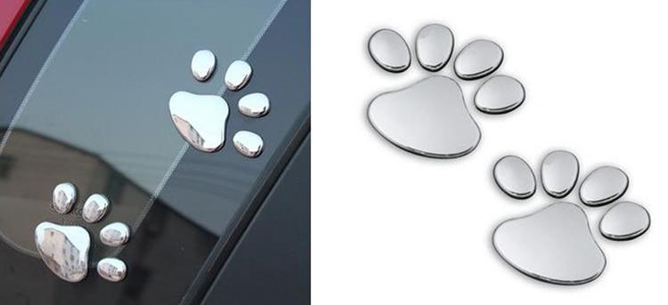 1 PCS New Cute Feet Car Sticker 3D Bear Paw Pet Animal Footprints Car Sticker Truck Decor Decal Accessories 3