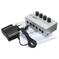 Ultra Compact 4 Channels Mini Audio Stereo Headphone Amplifier Power Adapter