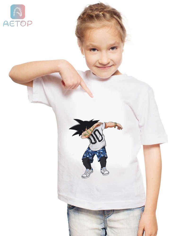 新ドラゴンボール dap 058 王国おかしい Tシャツキッズベビー夏のかわいい服トップスドラゴンボール tシャツ