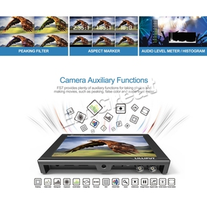 Image 3 - شاشة عرض فيديو كاملة عالية الوضوح مقاس 7 بوصات 1920 × 1200 4K HDMI 3G SDI في/خارج ث/بطارية على كاميرا مراقبة حقل الفيديو لسوني PXW FS7 EVA1 Gimbal