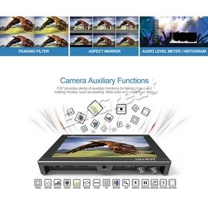 Image 3 - Lilliput Monitor de campo de vídeo para cámara, 7 pulgadas, Full HD, 1920x1200, 4K, HDMI, 3G SDI, entrada/salida con batería, para Sony PXW FS7, EVA1, cardán