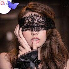 Seksowna bielizna królowa maska miękka wyściólka koronkowa maska z zawiązanymi oczami Patch + Sex kajdanki zabawki erotyczne dla par erotyczne kostiumy seksowna gra