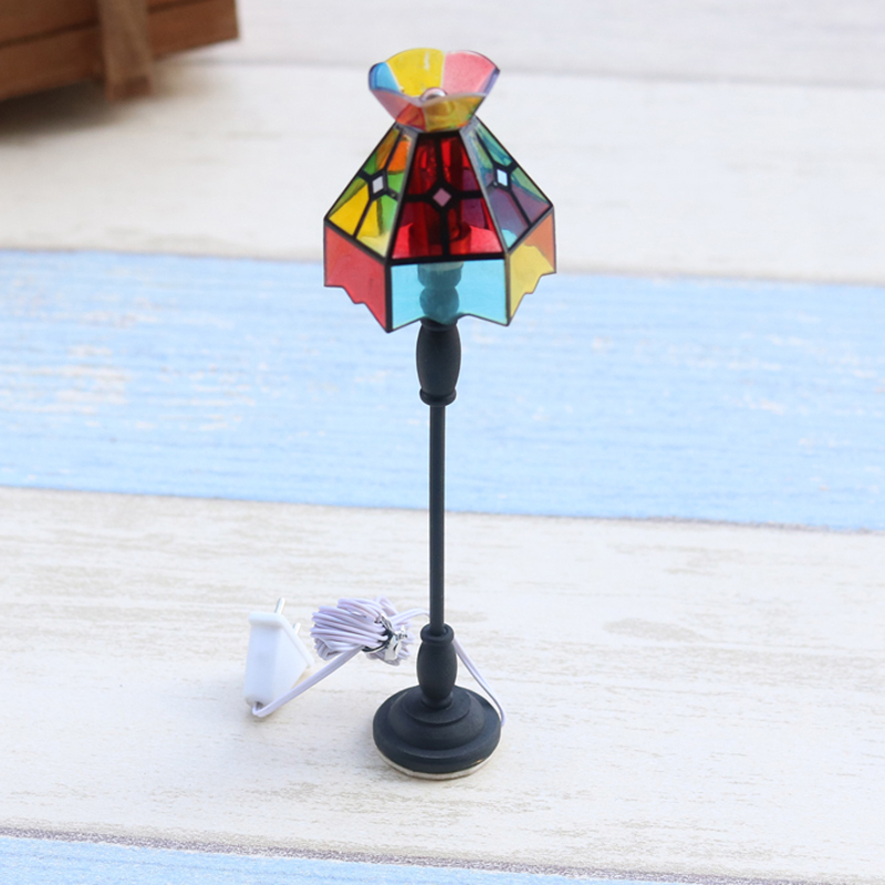 G07-X311 children baby gift Toy 1:12 Dollhouse mini Furniture Miniature rement Doll accessories Colorful floor lamp 7034 1pcs