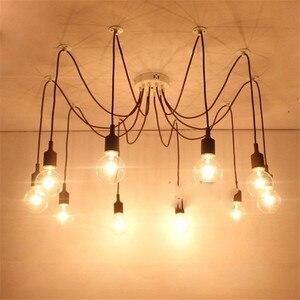 Современная подвесная потолочная лампа в виде паука, разноцветная потолочная промышленная потолочная лампа для столовой, кухни, кафе, мага...
