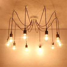 Modern Spider Chandelier Colorful Pedant Light Loft Industrial Hanging Lamp Ceiling Dinning Room Kitchen Cafe Shop Bar Country стоимость