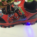 Children Luminous Shoes Top Quality Spiderman Flasher Sports Sneakers Kids Brand Light Boys Trainer Boy Tenis Led Car Toy Shoes