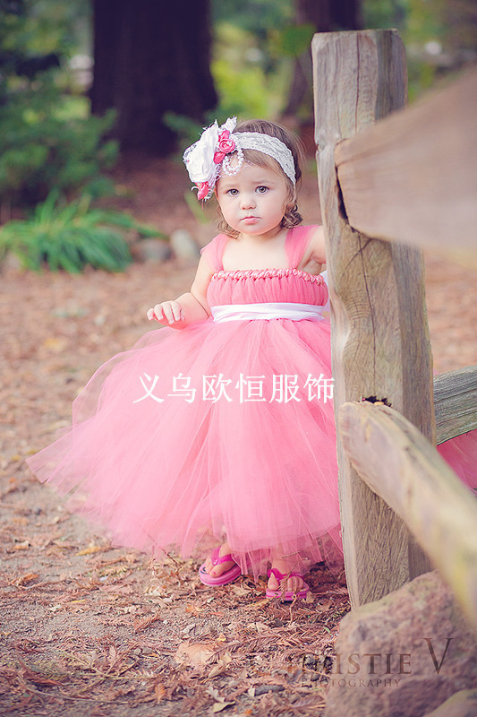 b58192efabe2 LS 1 Baby Clothes Handmade pink / red / white / any color TUTU dresses for  wedding ,flower girls wear,1 years birthday 1273-in Dresses from Mother &  Kids on ...