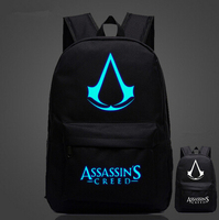 Japan Anime Lumious Assassins Creed Fairy Tail Backpack Glow In The Dark Student Schoolbag Travel Bag
