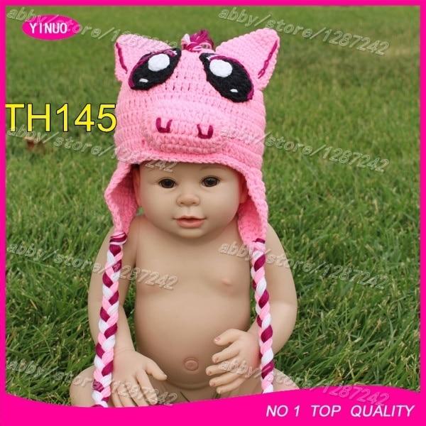 6c46e51132a 5pcs lot 2015 Fashion designer baby crochet christmas hat animal kids  crochet hats