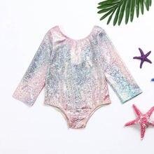 f754b08901 (Ship from US) 1-4 Years Kids Girls Swimsuit One Piece Baby Bikini Swimwear  Children Mermaid Bathing Suit Swimming Dress for Girl Beachwear