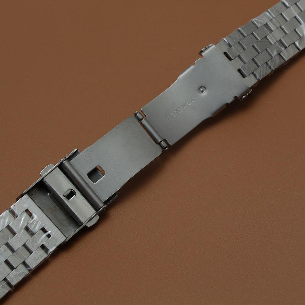 Mat urbåndrem Upoleret armbånd 18mm 20mm 22mm 24mm 26mm sølv - Tilbehør til ure - Foto 3