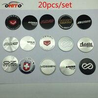 Оптовая продажа 20 шт/комплект 45mm ADVAN Racing волк ложка работы воссен OZ логотип Стикеры авто крышки центра колеса стикеры