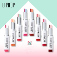 LIPHOP Brand lip gloss lipstick makeup 8 color gradient color Korean style Two color tint lip stick lasting waterproof lip balm