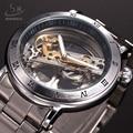 Luxury Brand SHENHUA Tourbillon Automatic Mechanical Watch Men Transparent Skeleton Wristwatch Male Fashion Business Watch